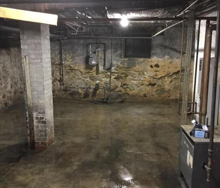 Photo showing the basement after our crew finished cleaning, it's spotless!