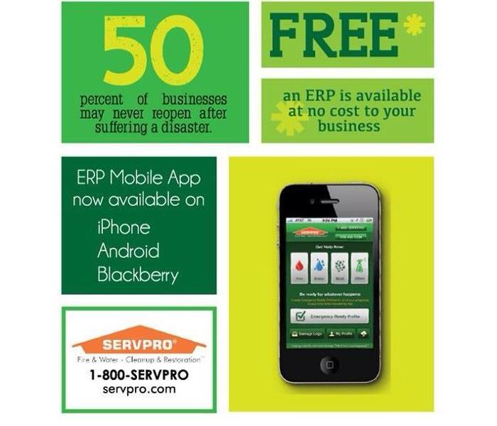 Phone showing SERVPRO Ready App